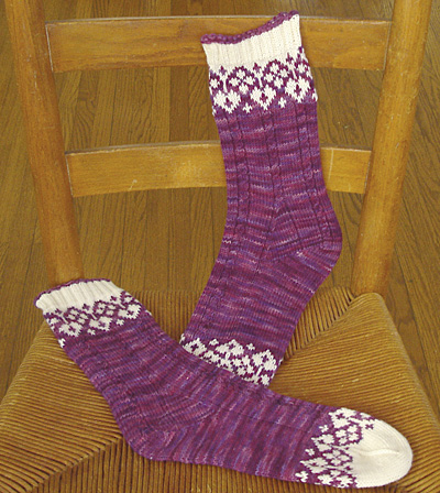 Knitting Pattern For Fancy Socks : Winter Classes Knitting, writing and other joys