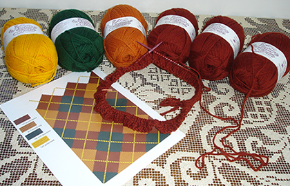 autumn argyle supplies
