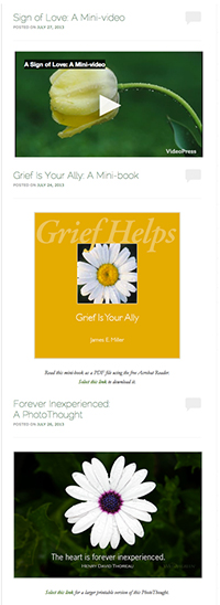 Grief Helps blog