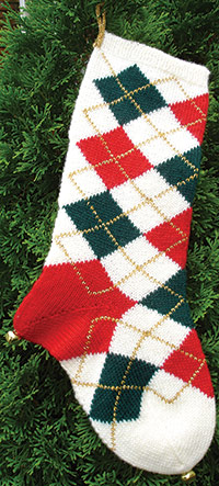 Argyle Christmas Stocking